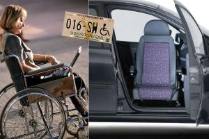Placa para personas con discapacidad