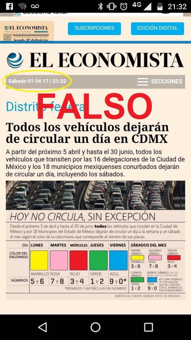 Noticia economista falsa