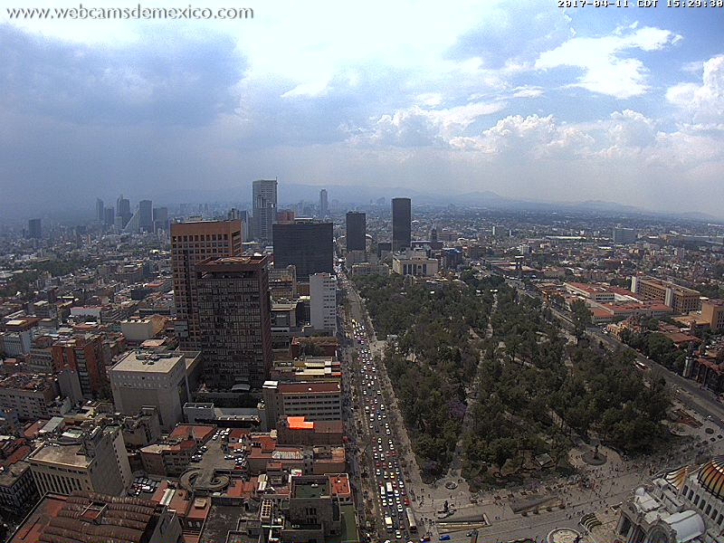 Una vista a la CDMX. Vía Webcam