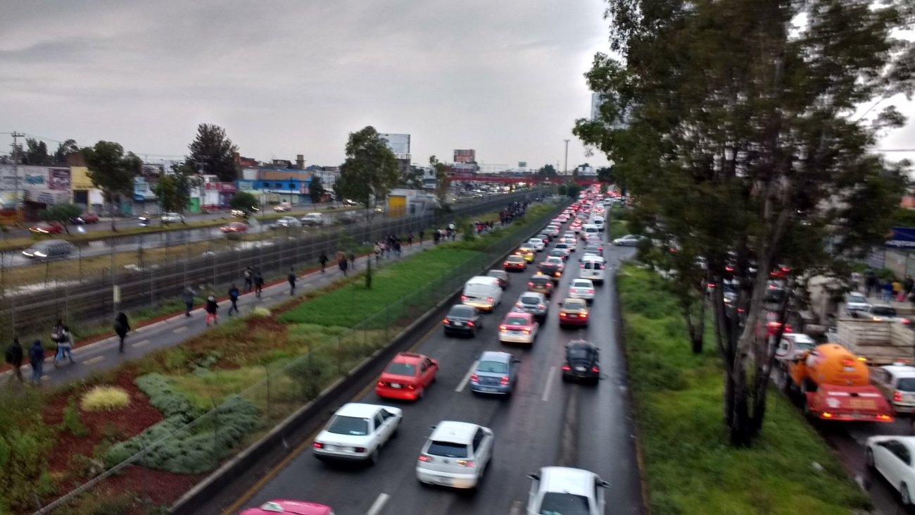 Panorama en Av. Central a la altura del metro Múzquiz. Vía @FRANKGONZALEZ 22