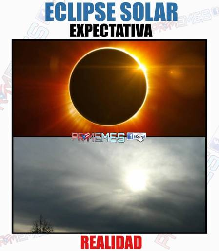 Agosto meme Eclipse de Sol cautiva las redes sociales. Mexicanos se quedan con las ganas de verlo en su máximo esplendo