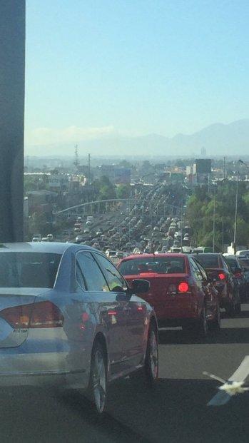 Febrero Incendio en la autopista México Puebla @fmc7103