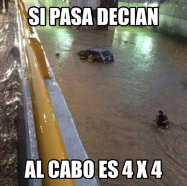 Julio meme Intensas lluvias causan caos en el Valle de México