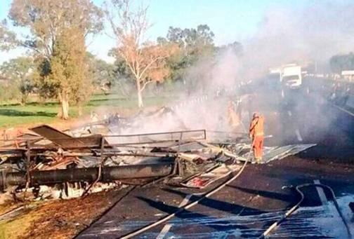 Marzo Trailer se incendia en Circuito Exterior Mexiquense
