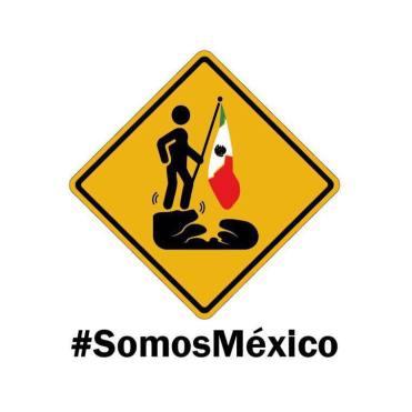 Septiembre En redes sociales surge la tendencia #SomosMéxico, mediante la cual, cibernautas manifiestan su apoyo a los damnificados por el terre