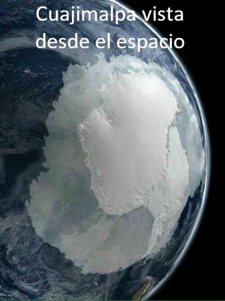 Cuajimlpa desde el espacio